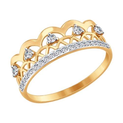 Кольцо из золота с фианитами арт 012