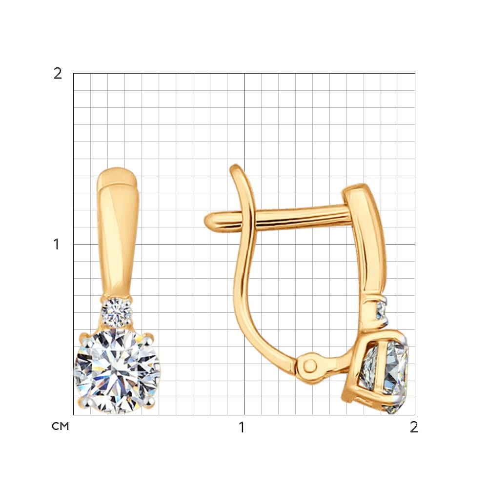 Серьги из золота с фианитами SOKOLOV арт 0011