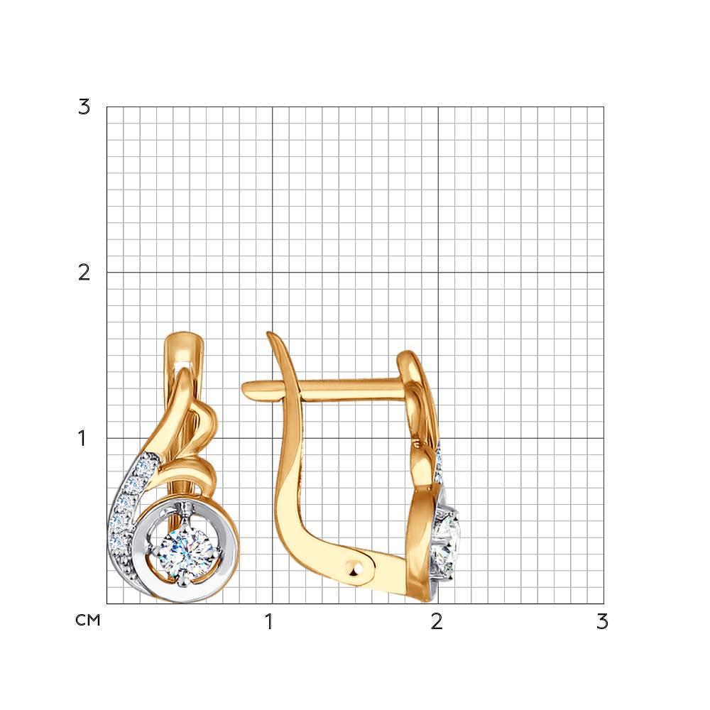 Серьги из золота с фианитами SOKOLOV арт 0015