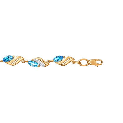 Браслет из золота с топазами и фианитами SOKOLOV арт 002
