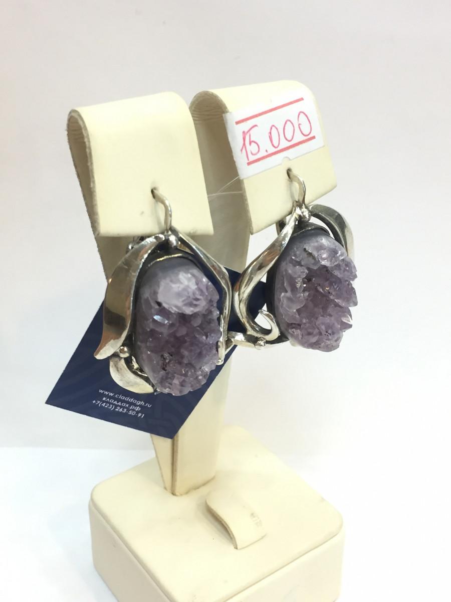 Серьги из серебра ручной работы Арт 019
