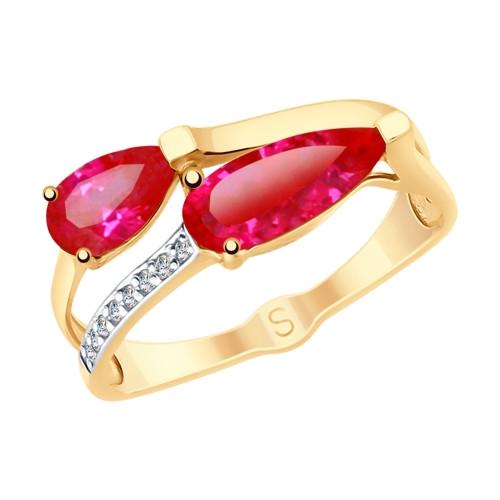 Золотое кольцо SOKOLOV Арт К-1489