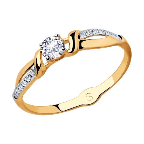Кольцо из золота с фианитами SOKOLOV Арт КЗ-077
