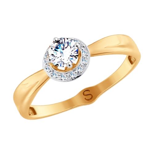 Кольцо из золота с фианитами SOKOLOV Арт КЗ-079