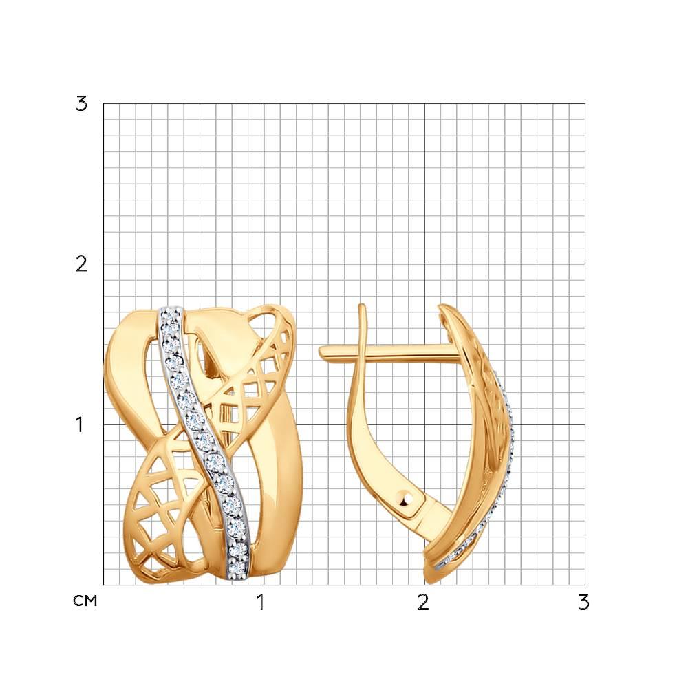 Серьги из золота с фианитами арт сз076