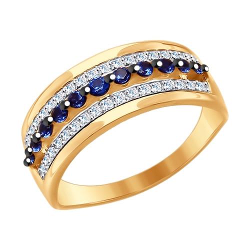 Золотое кольцо SOKOLOV арт К-1497