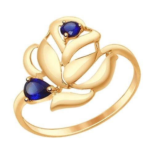 Золотое кольцо SOKOLOV арт К-1444