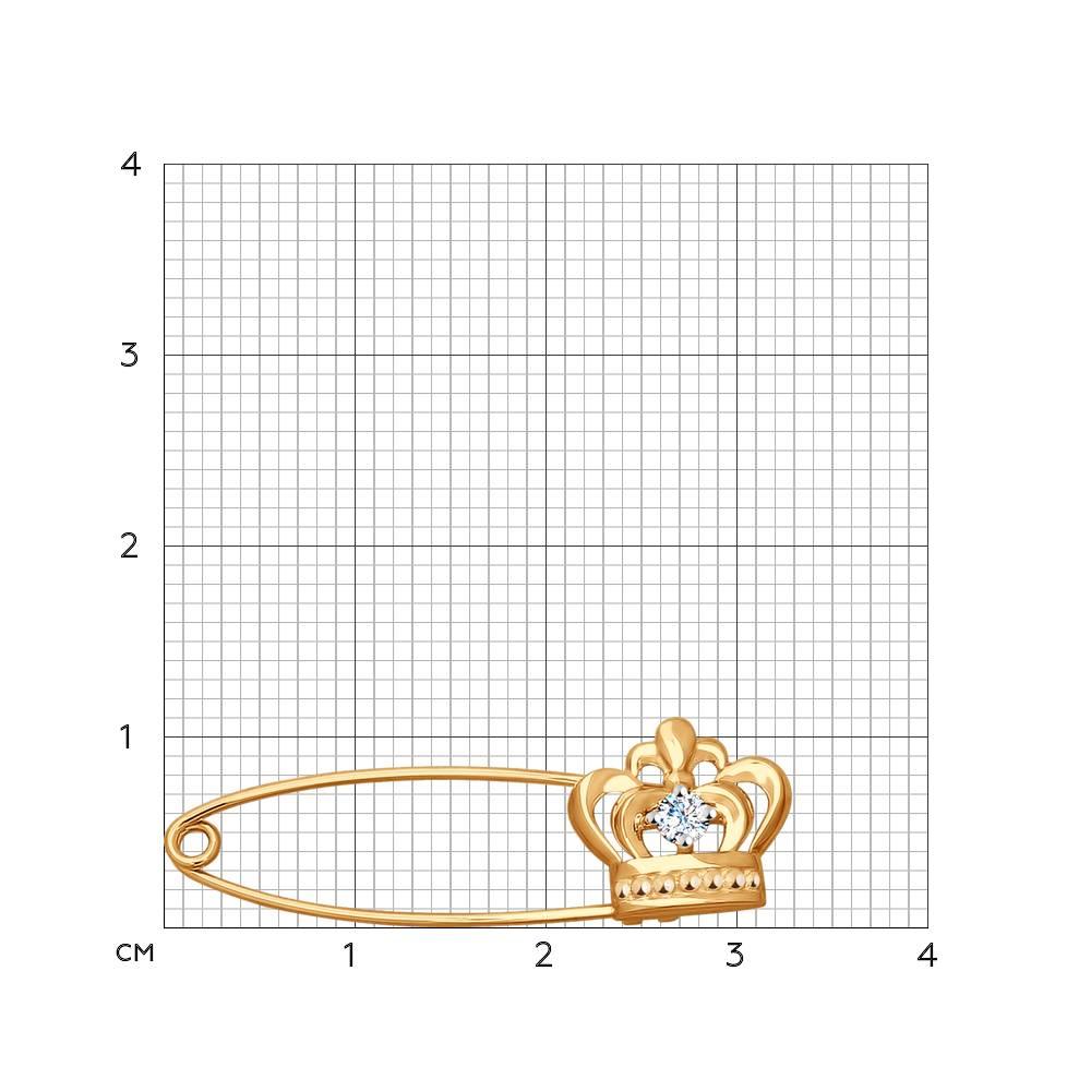 Брошь «Корона» SOKOLOV Арт ПЗ027