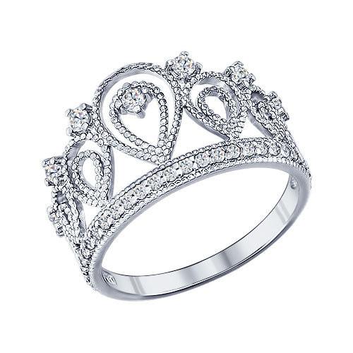 Кольцо «Корона» из серебра Арт КС-254