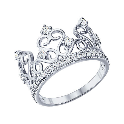 Кольцо «Корона» из серебра Арт КС-257